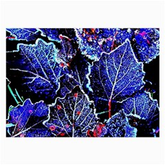 Blue Leaves In Morning Dew Large Glasses Cloth (2 Side)
