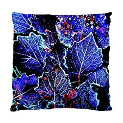 Blue Leaves In Morning Dew Standard Cushion Case (one Side) by Costasonlineshop