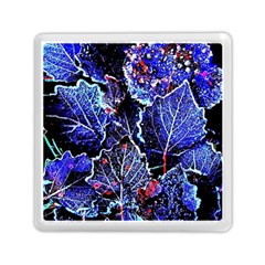 Blue Leaves In Morning Dew Memory Card Reader (square)