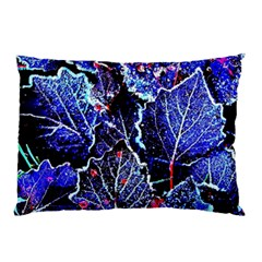 Blue Leaves In Morning Dew Pillow Case (two Sides)
