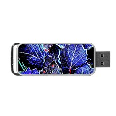Blue Leaves In Morning Dew Portable Usb Flash (two Sides)