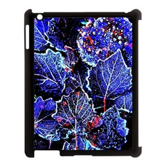 Blue Leaves In Morning Dew Apple Ipad 3/4 Case (black)