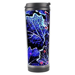 Blue Leaves In Morning Dew Travel Tumbler by Costasonlineshop