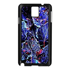 Blue Leaves In Morning Dew Samsung Galaxy Note 3 N9005 Case (black) by Costasonlineshop