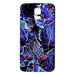 Blue Leaves In Morning Dew Samsung Galaxy S5 Back Case (white)