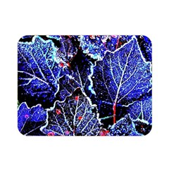 Blue Leaves In Morning Dew Double Sided Flano Blanket (mini)
