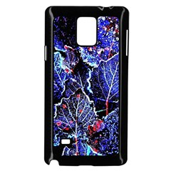 Blue Leaves In Morning Dew Samsung Galaxy Note 4 Case (black) by Costasonlineshop