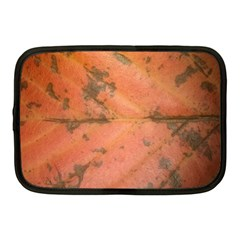Red Leaf Texture Netbook Case (medium)  by SamEarl13