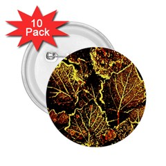 Leaves In Morning Dew,yellow Brown,red, 2 25  Buttons (10 Pack)  by Costasonlineshop