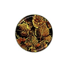 Leaves In Morning Dew,yellow Brown,red, Hat Clip Ball Marker (10 Pack)