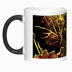 Leaves In Morning Dew,yellow Brown,red, Morph Mugs by Costasonlineshop