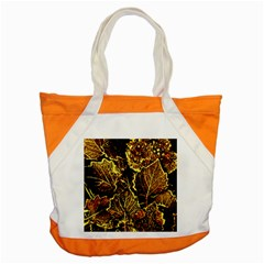 Leaves In Morning Dew,yellow Brown,red, Accent Tote Bag by Costasonlineshop