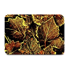 Leaves In Morning Dew,yellow Brown,red, Plate Mats