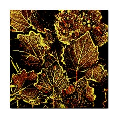 Leaves In Morning Dew,yellow Brown,red, Face Towel by Costasonlineshop