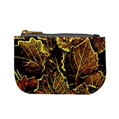 Leaves In Morning Dew,yellow Brown,red, Mini Coin Purses by Costasonlineshop