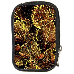 Leaves In Morning Dew,yellow Brown,red, Compact Camera Cases by Costasonlineshop