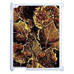 Leaves In Morning Dew,yellow Brown,red, Apple Ipad 2 Case (white)