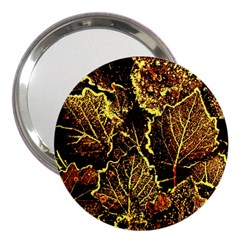 Leaves In Morning Dew,yellow Brown,red, 3  Handbag Mirrors by Costasonlineshop