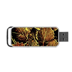 Leaves In Morning Dew,yellow Brown,red, Portable Usb Flash (two Sides)