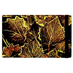 Leaves In Morning Dew,yellow Brown,red, Apple Ipad 3/4 Flip Case