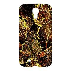 Leaves In Morning Dew,yellow Brown,red, Samsung Galaxy S4 I9500/i9505 Hardshell Case