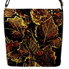 Leaves In Morning Dew,yellow Brown,red, Flap Messenger Bag (s)