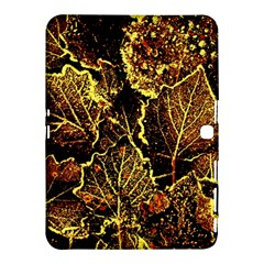 Leaves In Morning Dew,yellow Brown,red, Samsung Galaxy Tab 4 (10 1 ) Hardshell Case  by Costasonlineshop