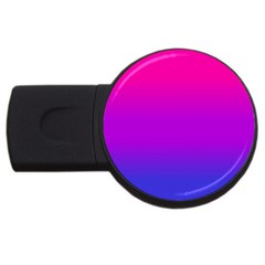 Pink Purple Blue Usb Flash Drive Round (2 Gb)  by AnjaniArt