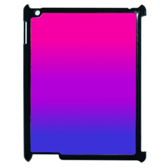 Pink Purple Blue Apple Ipad 2 Case (black)