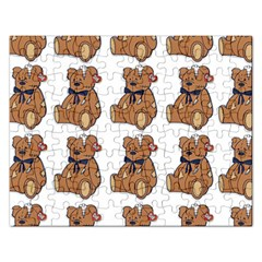 Bear Rectangular Jigsaw Puzzl by AnjaniArt