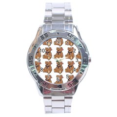 Bear Stainless Steel Analogue Watch