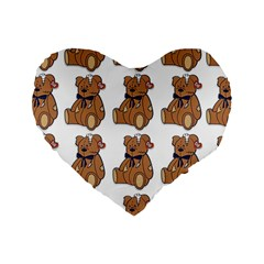 Bear Standard 16  Premium Heart Shape Cushions