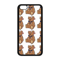 Bear Apple Iphone 5c Seamless Case (black) by AnjaniArt