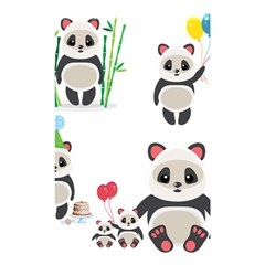 Panda Cute Animals Shower Curtain 48  X 72  (small)  by AnjaniArt