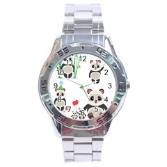 Panda Cute Animals Stainless Steel Analogue Watch