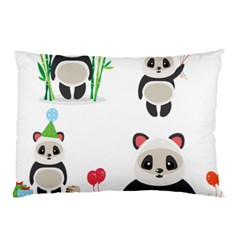 Panda Cute Animals Pillow Case (two Sides) by AnjaniArt