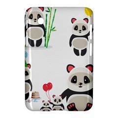 Panda Cute Animals Samsung Galaxy Tab 2 (7 ) P3100 Hardshell Case  by AnjaniArt