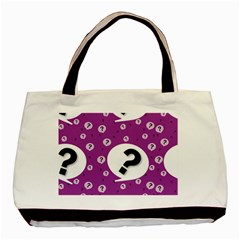 Question Mark Sign Basic Tote Bag