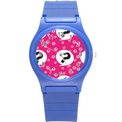 Question Mark Red Sign Round Plastic Sport Watch (s)