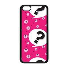 Question Mark Red Sign Apple Iphone 5c Seamless Case (black)