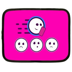 Run Face Pink Netbook Case (xl)  by AnjaniArt