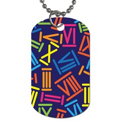 Roman Numerals Dog Tag (one Side)