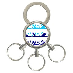 Water 3 Ring Key Chains