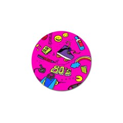 Smile Cute Face Purple Golf Ball Marker (4 Pack) by AnjaniArt