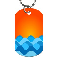 Water Orange Dog Tag (two Sides) by AnjaniArt