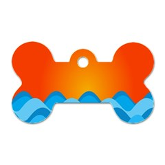 Water Orange Dog Tag Bone (two Sides)
