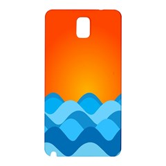 Water Orange Samsung Galaxy Note 3 N9005 Hardshell Back Case