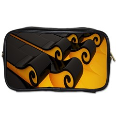 Tsunami Roll Sea Wave Toiletries Bags 2 Side