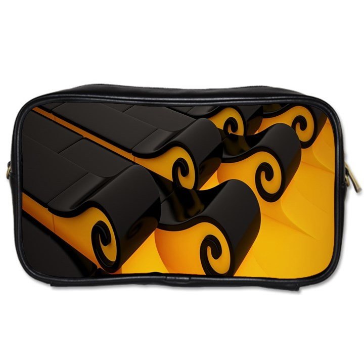 Tsunami Roll Sea Wave Toiletries Bags 2-Side