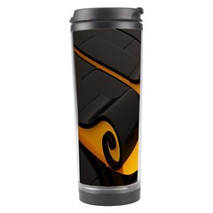 Tsunami Roll Sea Wave Travel Tumbler by AnjaniArt